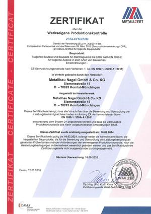 Zertifikat EN1090WPK