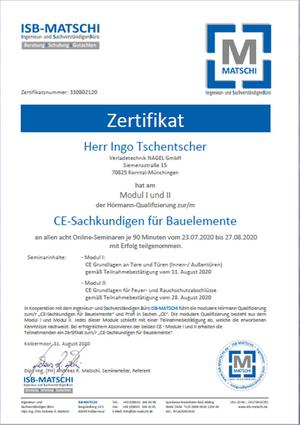 CE-Sachkundigen für Bauelemente